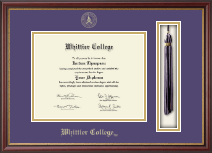 Whittier College Diploma Frame - Tassel Edition Diploma Frame in Newport