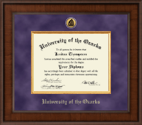 University of the Ozarks Diploma Frame - Presidential Gold Engraved Diploma Frame in Madison