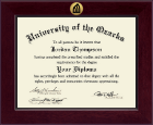 University of the Ozarks Diploma Frame - Century Gold Engraved Diploma Frame in Cordova
