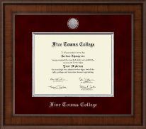 Five Towns College Diploma Frame - Presidential Silver Engraved Diploma Frame in Madison