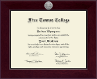 Five Towns College Diploma Frame - Century Silver Engraved Diploma Frame in Cordova