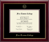 Five Towns College Diploma Frame - Gold Embossed Diploma Frame in Gallery