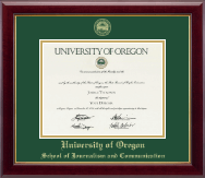 University of Oregon Diploma Frame - Gold Embossed Diploma Frame in Gallery