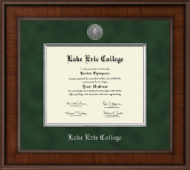 Lake Erie College Diploma Frame - Presidential Silver Engraved Diploma Frame in Madison
