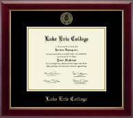 Lake Erie College Diploma Frame - Gold Embossed Diploma Frame in Gallery