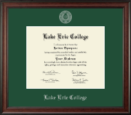 Lake Erie College Diploma Frame - Silver Embossed Diploma Frame in Studio