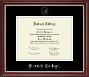 Baruch College Diploma Frame - Silver Embossed Diploma Frame in Kensington Silver