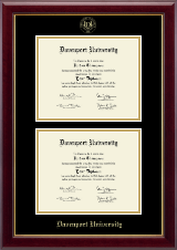 Davenport University Diploma Frame - Double Document Diploma Frame in Gallery