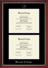 Baruch College Diploma Frame - Double Diploma Frame in Kensington Silver