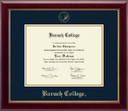 Baruch College Diploma Frame - Gold Embossed Diploma Frame in Gallery