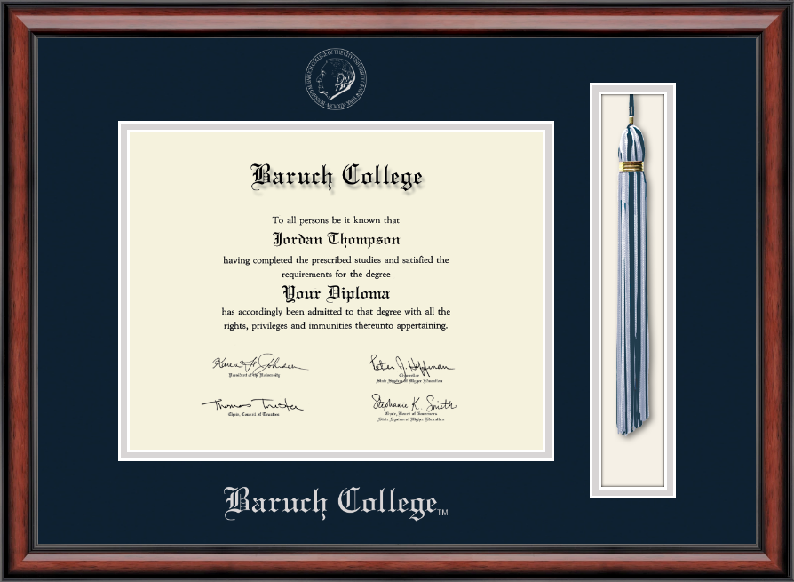 Baruch College Tassel Edition Diploma Frame In Southport