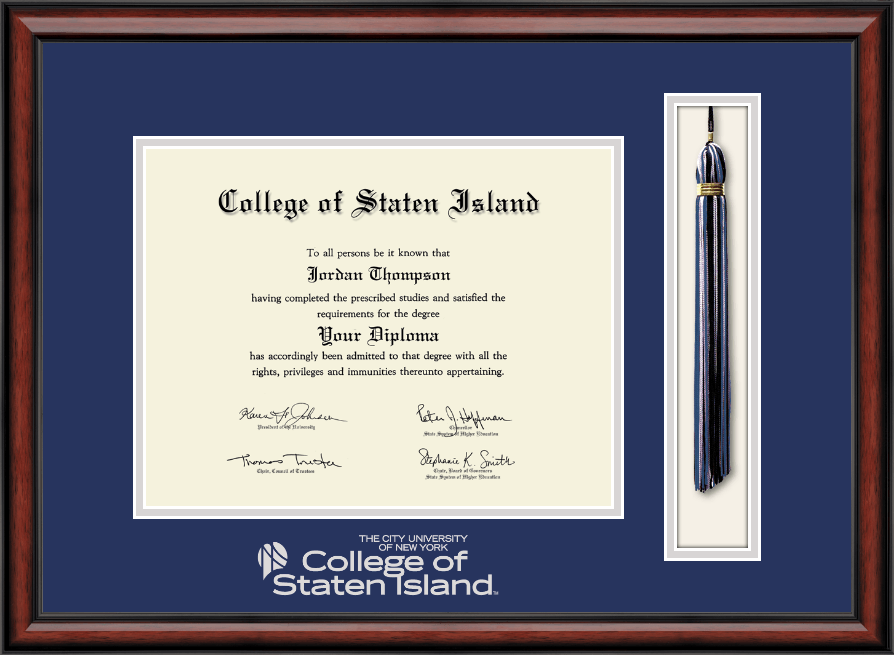 College of Staten Island Tassel Edition Diploma Frame in Southport ...