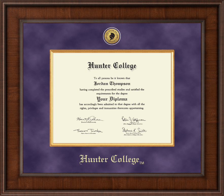 hunter college diploma frame presidential gold engraved diploma frame in madison