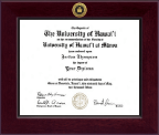 University of Hawaii West Oahu Diploma Frame - Century Gold Engraved Diploma Frame in Cordova