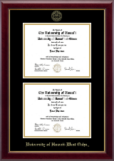 University of Hawaii West Oahu Diploma Frame - Double Document Diploma Frame in Gallery