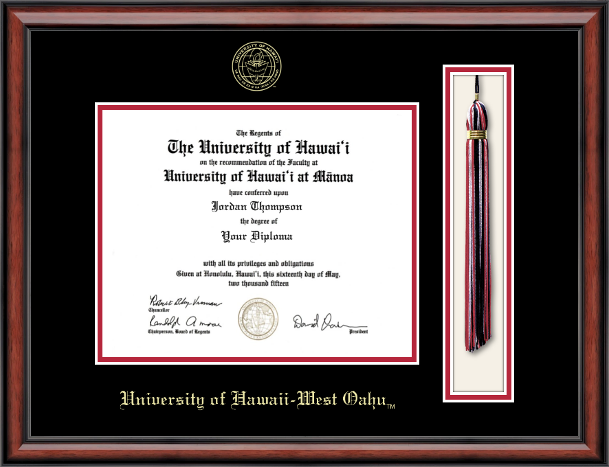 University Of Hawaii West Oahu Tassel Edition Diploma Frame In Southport