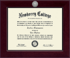 Newberry College Diploma Frame - Century Silver Engraved Diploma Frame in Cordova