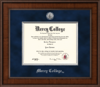 Mercy College Diploma Frame - Presidential Silver Engraved Diploma Frame in Madison