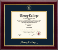 Mercy College Diploma Frame - Gold Embossed Diploma Frame in Gallery