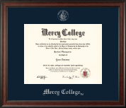 Mercy College Diploma Frame - Silver Embossed Diploma Frame in Studio
