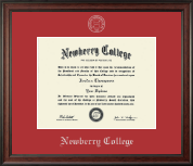 Newberry College Diploma Frame - Silver Embossed Diploma Frame in Studio
