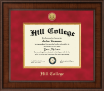 Hill College Diploma Frame - Presidential Gold Engraved Diploma Frame in Madison