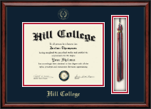 Hill College Diploma Frame - Tassel Edition Diploma Frame in Southport