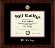 Hill College Diploma Frame - Gold Engraved Medallion Diploma Frame in Ridgewood