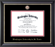 Washington University in St. Louis Diploma Frame - Masterpiece Medallion Diploma Frame in Noir