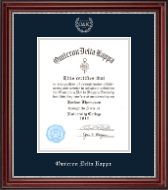 Omicron Delta Kappa Certificate Frame - 8'x10' - Silver Embossed Certificate Frame in Kensington Silver