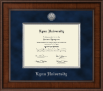 Lynn University Diploma Frame - Presidential Silver Engraved Diploma Frame in Madison