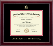 Southeast Missouri State University Diploma Frame - Gold Embossed Diploma Frame in Gallery