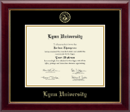 Lynn University Diploma Frame - Gold Embossed Diploma Frame in Gallery