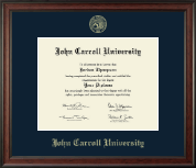 John Carroll University Diploma Frame - Gold Embossed Diploma Frame in Studio