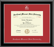Southeast Missouri State University Diploma Frame - Silver Embossed Diploma Frame in Onyx Silver