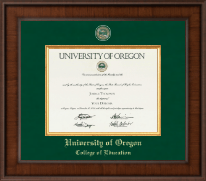 University of Oregon Diploma Frame - Presidential Masterpiece Diploma Frame in Madison