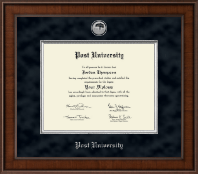 Post University Diploma Frame - Presidential Silver Engraved Diploma Frame in Madison