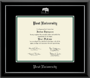 Post University Diploma Frame - Silver Embossed Diploma Frame in Onyx Silver