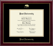 Post University Diploma Frame - Gold Embossed Diploma Frame in Gallery