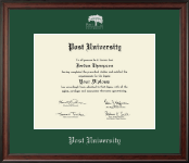 Post University Diploma Frame - Silver Embossed Diploma Frame in Studio