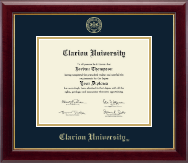 Clarion University of Pennsylvania Diploma Frame - Gold Embossed Diploma Frame in Gallery
