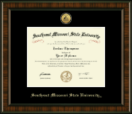 Southeast Missouri State University Diploma Frame - Gold Engraved Medallion Diploma Frame in Brentwood