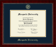 Marquette University Diploma Frame - Gold Embossed Diploma Frame in Sutton