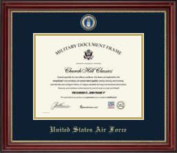 United States Air Force Certificate Frame - Masterpiece Medallion Certificate Frame in Kensington Gold