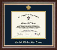 United States Air Force Certificate Frame - Gold Engraved Medallion Certificate Frame in Hampshire