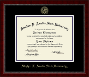 Stephen F. Austin State University Diploma Frame - Gold Embossed Diploma Frame in Sutton