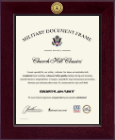 United States Air Force Certificate Frame - Century Gold Engraved Certificate Frame in Cordova
