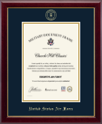"""Vertical 10""""x14"""" - Gold Embossed Certificate Frame"""