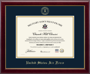 "Horizontal 10""x14"" - Gold Embossed Certificate Frame"