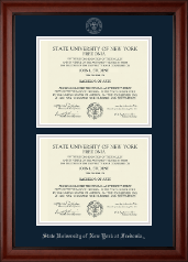State University of New York at Fredonia Diploma Frame - Double Diploma Frame in Cambridge